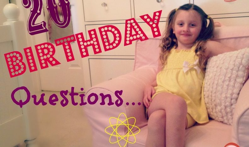 20 Birthday Questions to ask Kids Every Year!