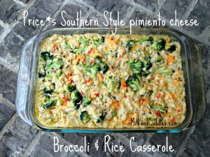 Pimiento Cheese Broccoli and Rice Casserole