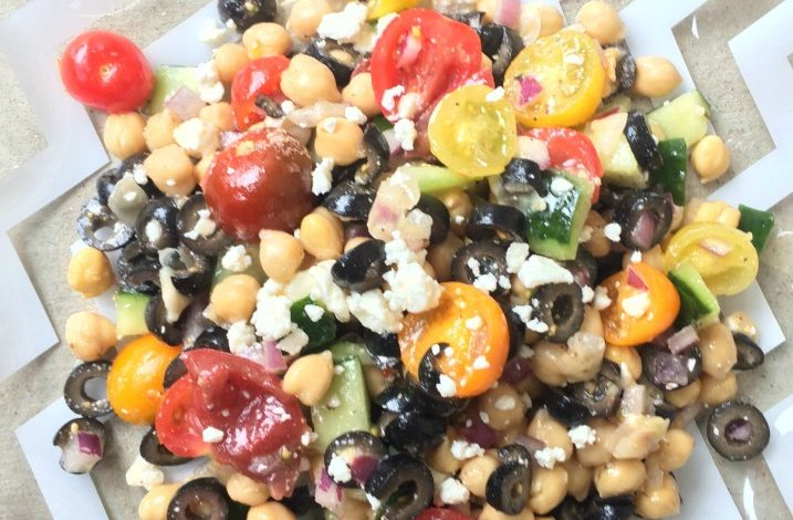 Greek Bean Salad – Cooking w/Canned Goods!