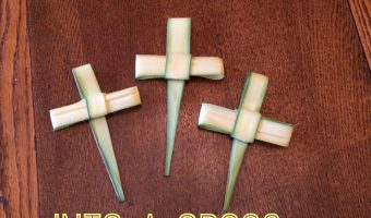 How to Fold The Palms From Church, into a Cross