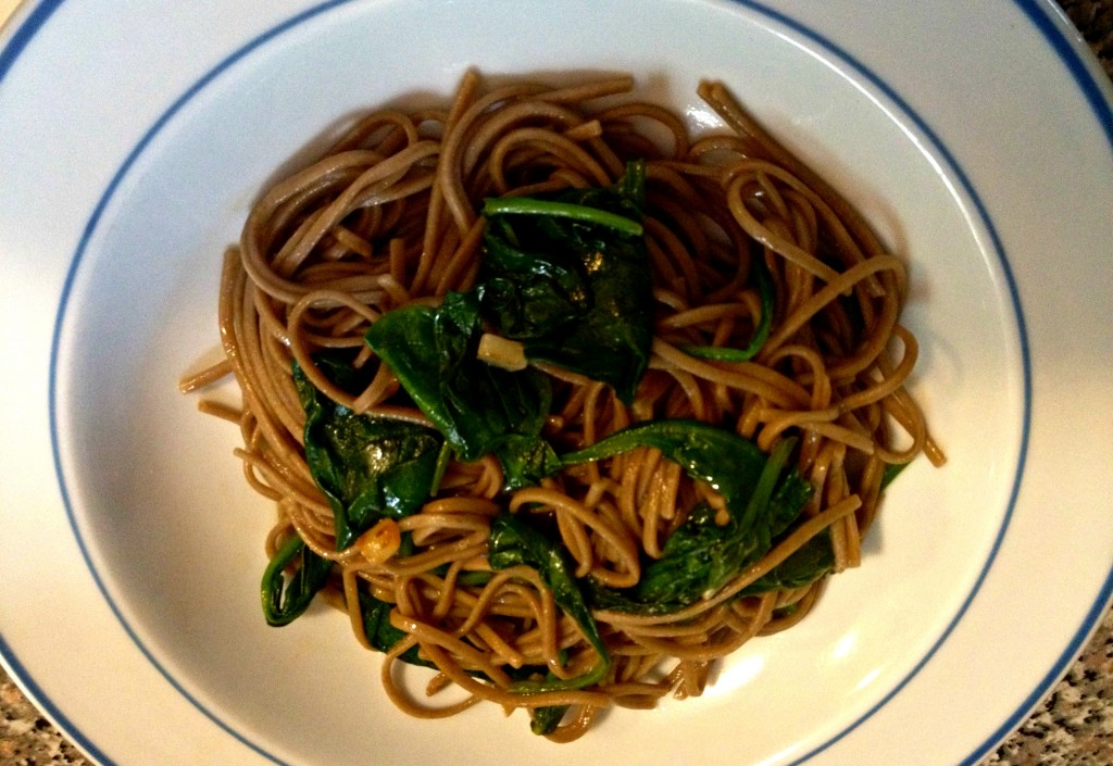 Spinach and Soba Noodles