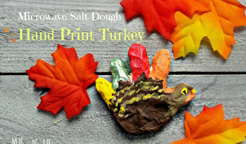 Microwave Friendly Salt Dough – Turkey!