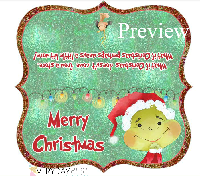 photograph regarding Christmas Bag Toppers Free Printable titled Grinch Motivated Family vacation Goody Bag Toppers Absolutely free - Day by day Simplest