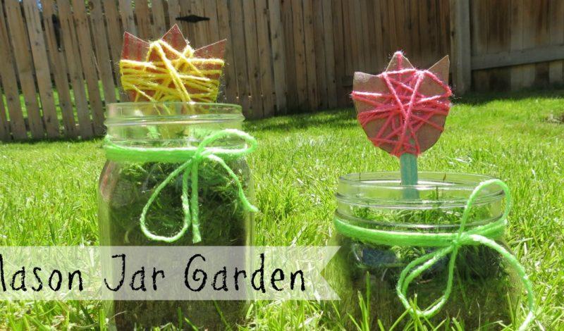 Preschool Mason Jar Garden