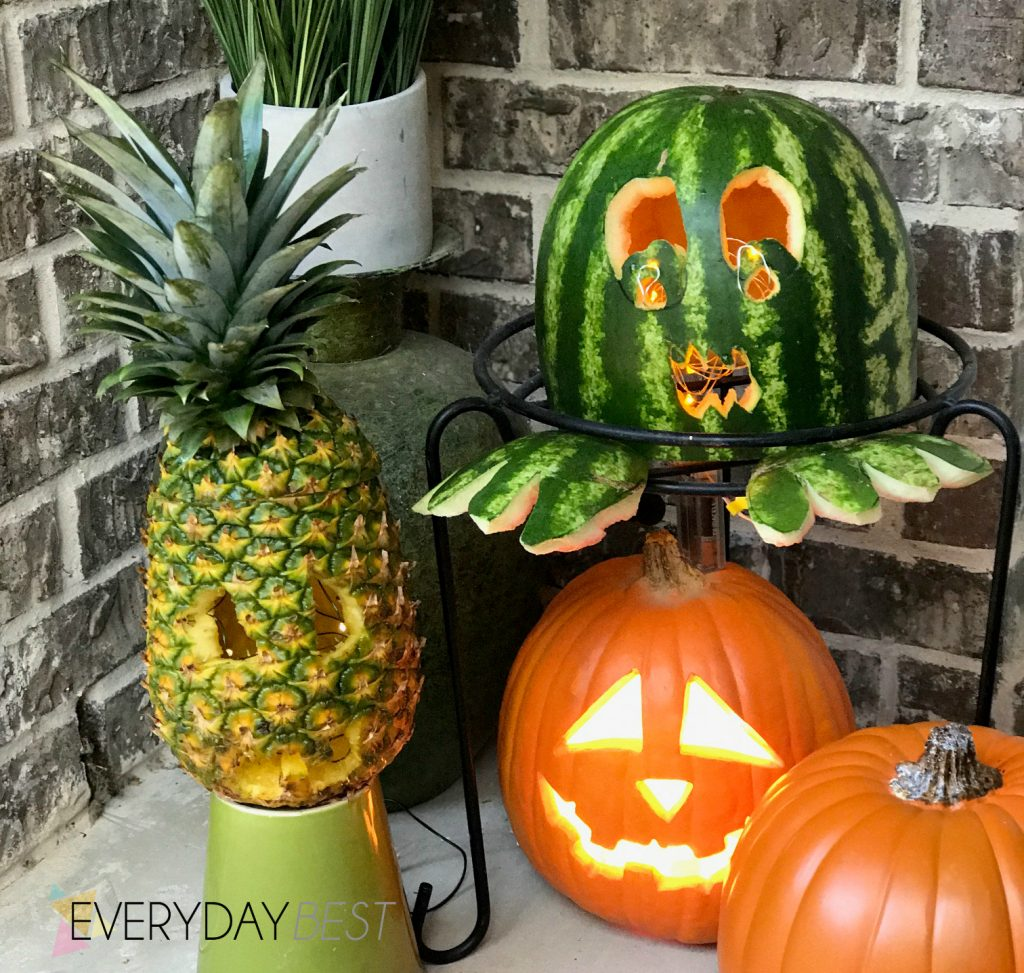Carving tips for pineapple watermelon pumpkins