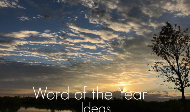 Ideas for Your Word of The Year!