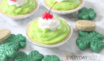 No Bake ~ Shamrock Shake Pie ~