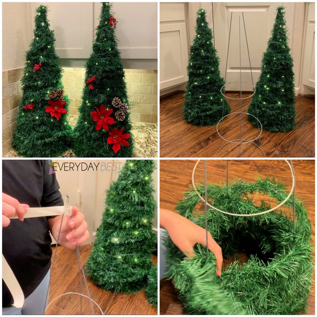 Dollar Store Christmas Decor Topiary Trees Everyday Best