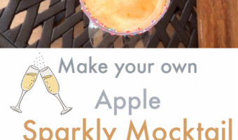 2 Ingredient – Sparkly Apple Mocktails!